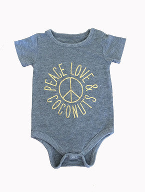 Peace, Love & Coconuts Onesie WAS $34.95 NOW $15.00