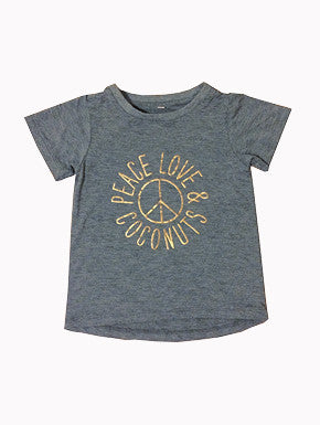 Peace, Love & coconuts tee WAS $34.95 - NOW $15.00