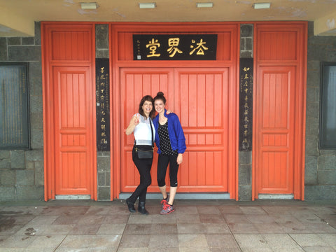 Vinrella's Sheri Hammonds and Nicole Hammonds in Hong Kong at the Big Buddha