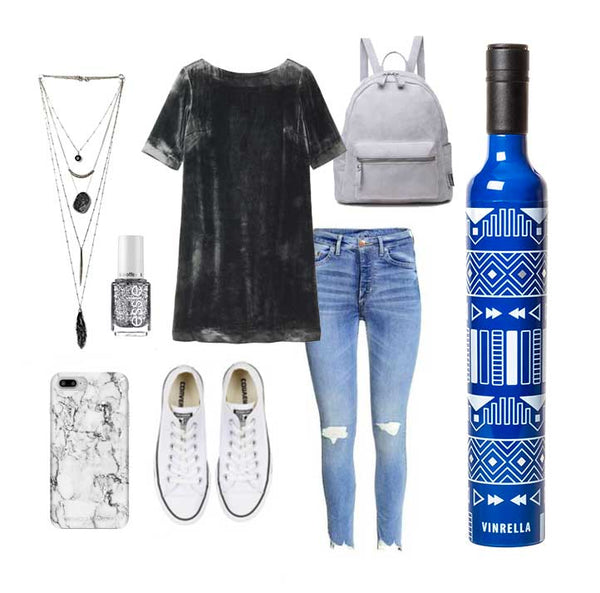 Vinrella Tribal Wine Bottle Umbrella Outfit Inspiration