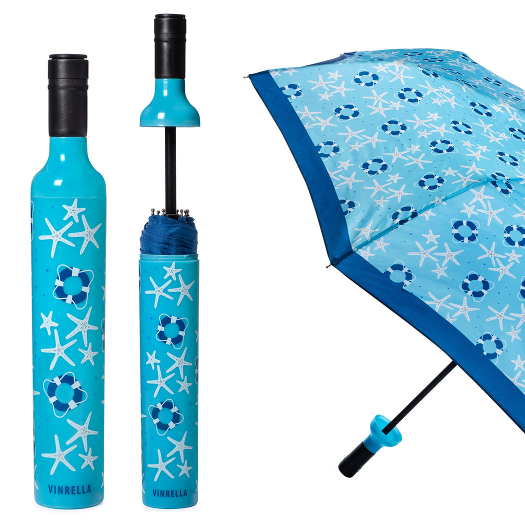 Coastal Days Bottle Umbrella by Vinrella