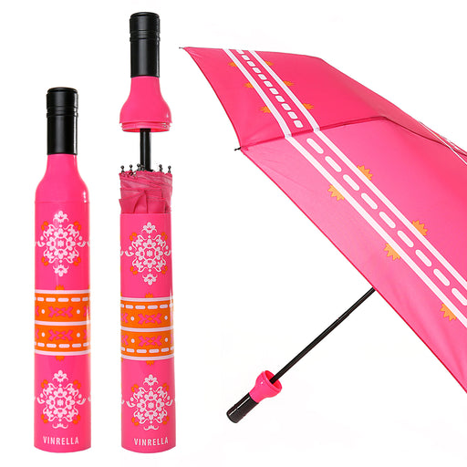 Boho Wine Bottle Umbrella by Vinrella