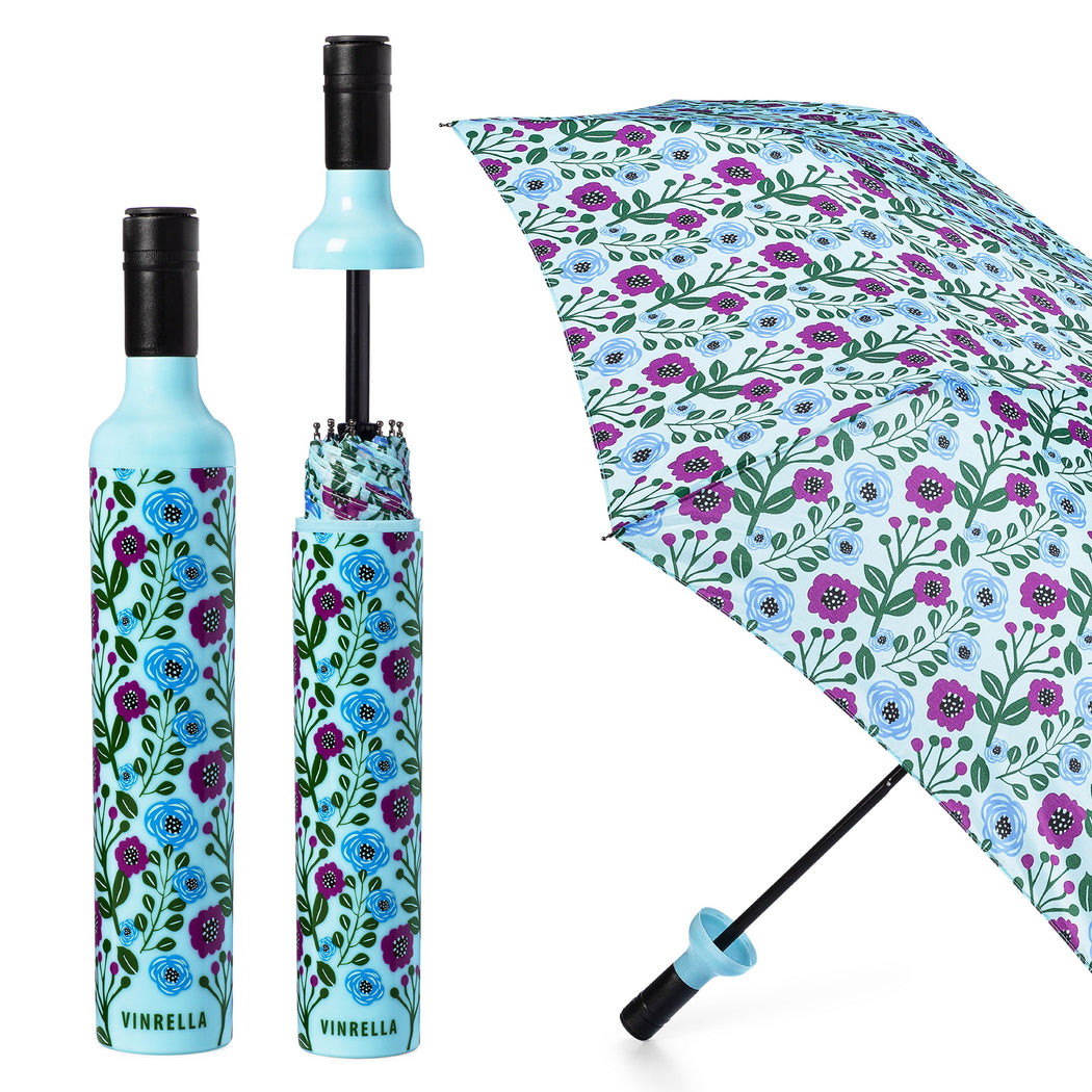 Floral Fantasy Bottle Umbrella by Vinrella