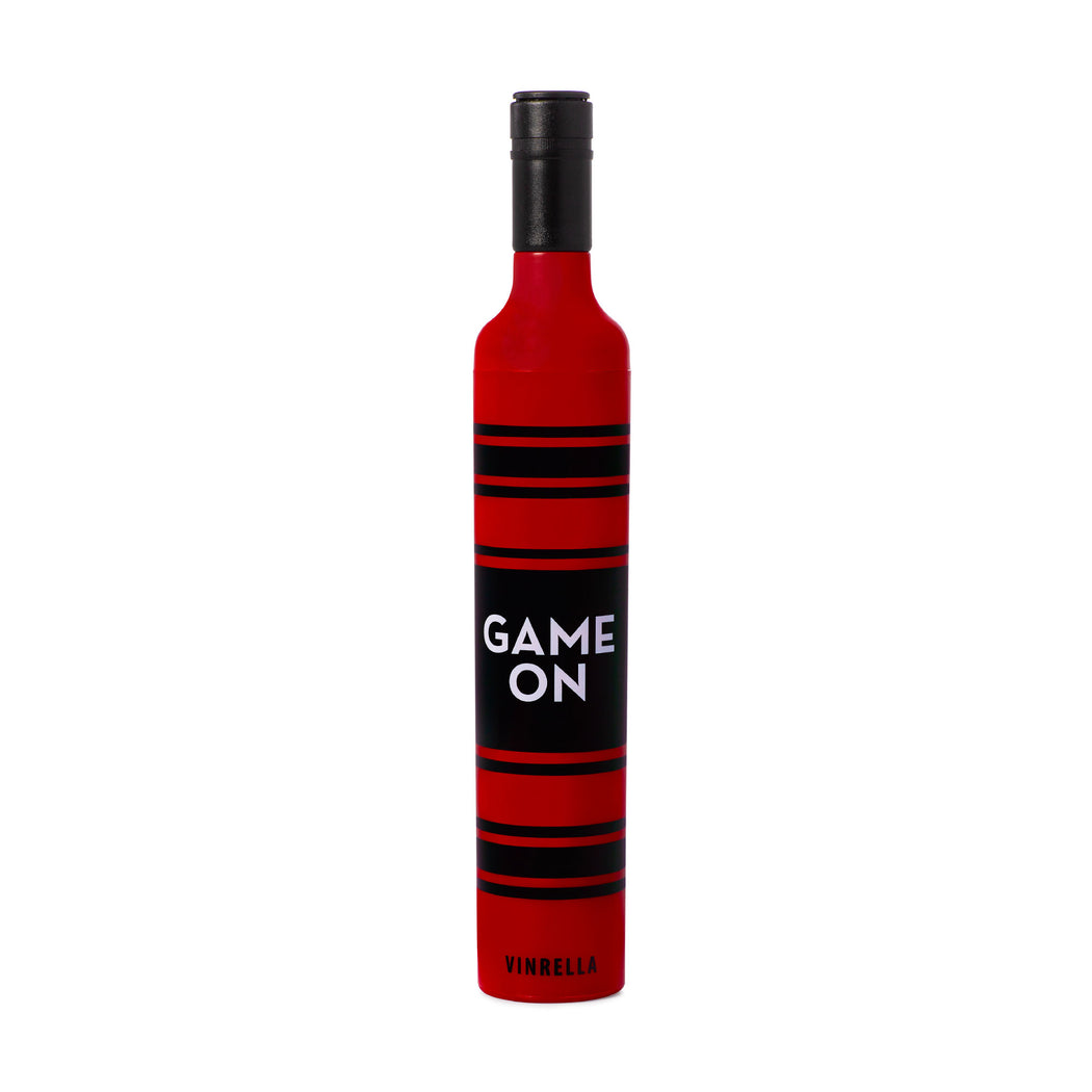 Game On Bottle Umbrella - Black/Red by Vinrella