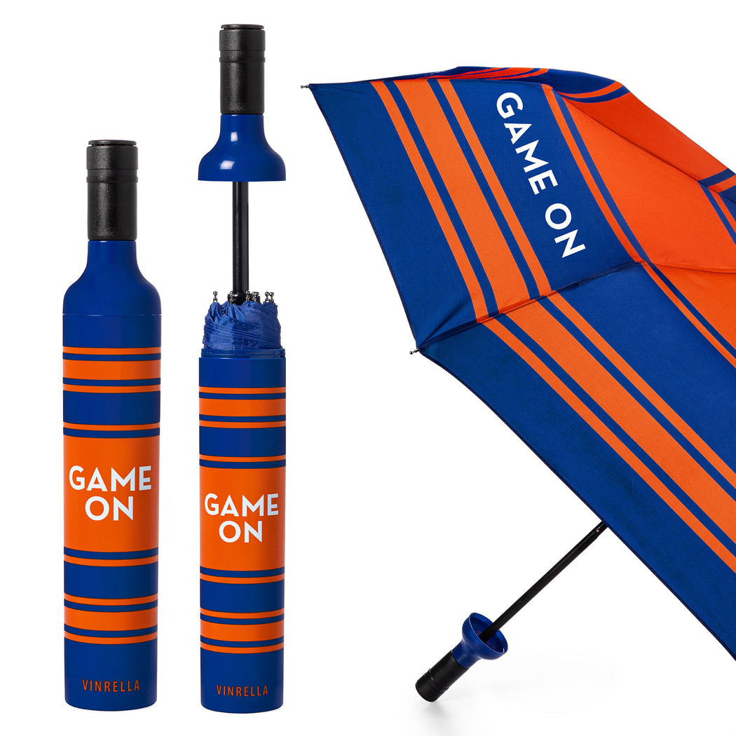 Game On Bottle Umbrella - Blue/Orange by Vinrella