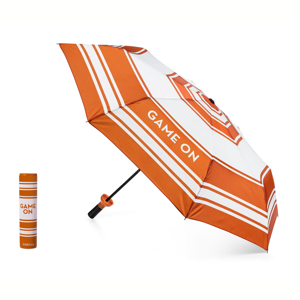 Game On Bottle Umbrella - Orange/White by Vinrella