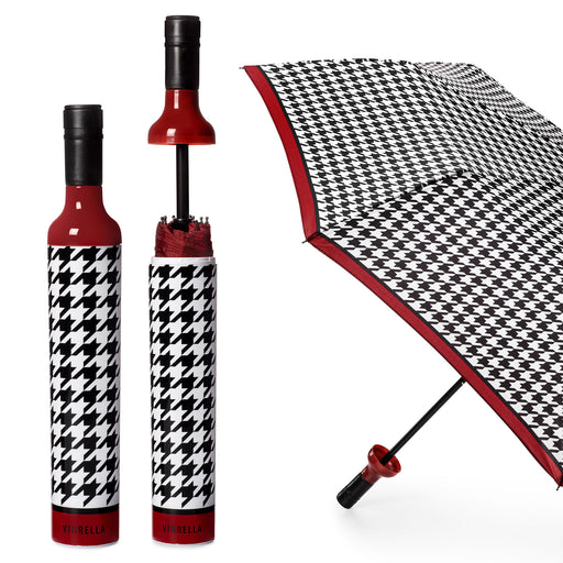 Happening Houndstooth Bottle Umbrella by Vinrella