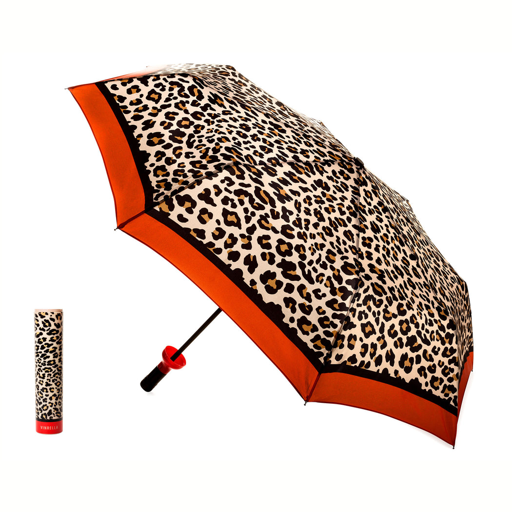 Leopard Print Bottle Umbrella by Vinrella