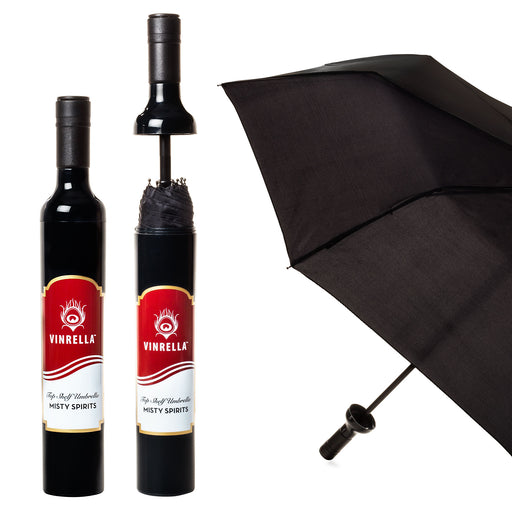Misty Spirits Labeled Bottle Umbrella by Vinrella