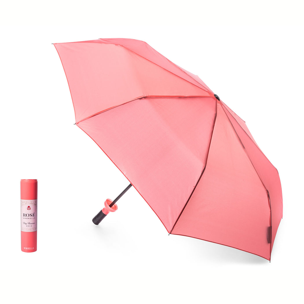 Rose Labeled Wine Bottle Umbrella by Vinrella