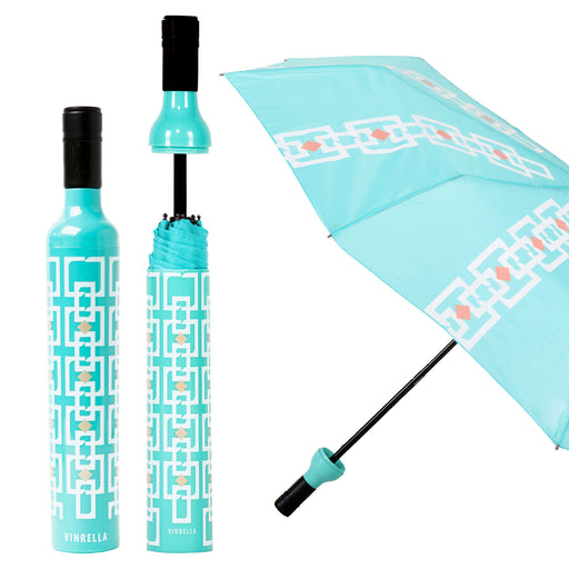 Vintage Turquoise Bottle Umbrella by Vinrella