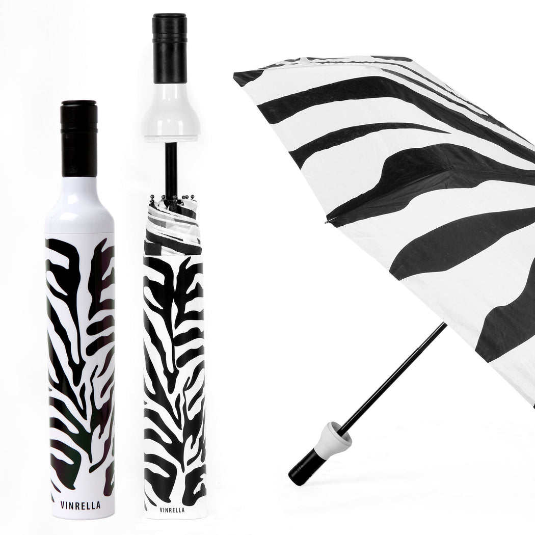 Zebra Bottle Umbrella by Vinrella
