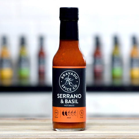 Serrano and Basil Hot Sauce