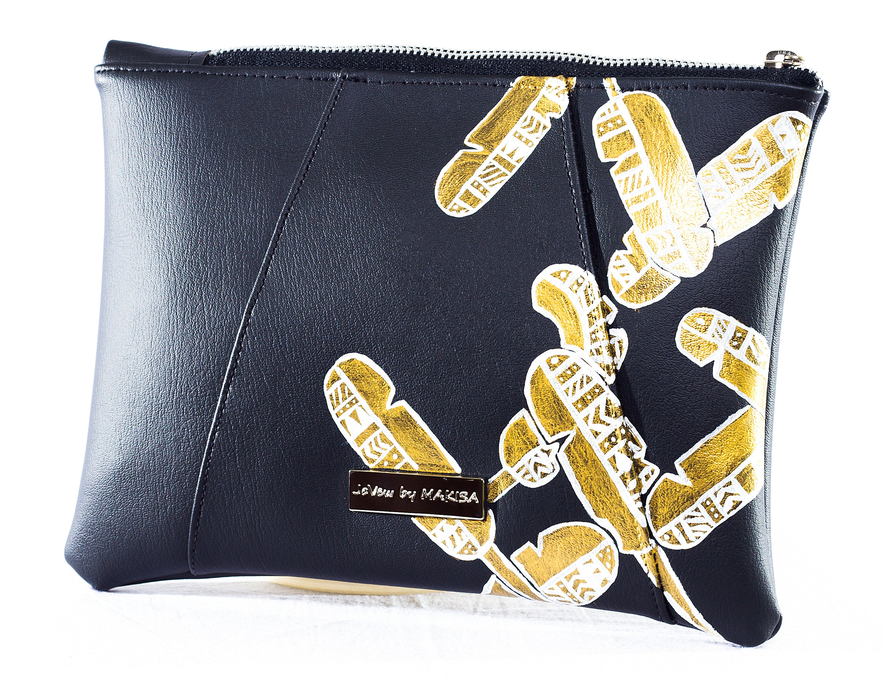 Mia Zipper Clutch