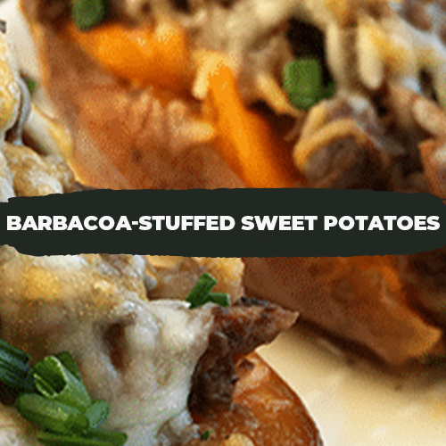 Barbacoa-Stuffed Sweet Potatoes