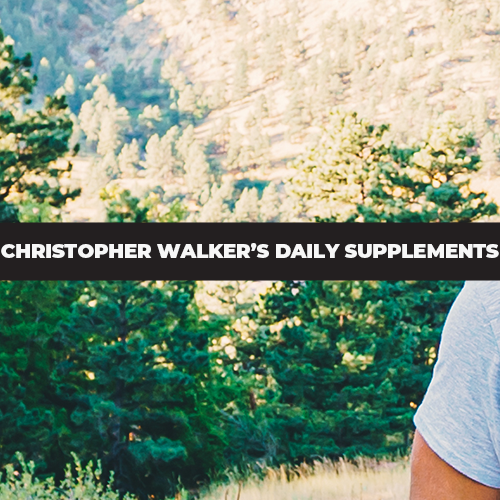Christopher Walker's Daily Supplements | What Does He Take?