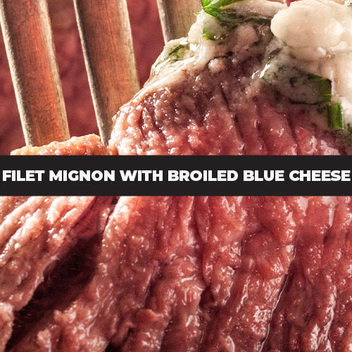 Filet Mignon With Broiled Blue Cheese