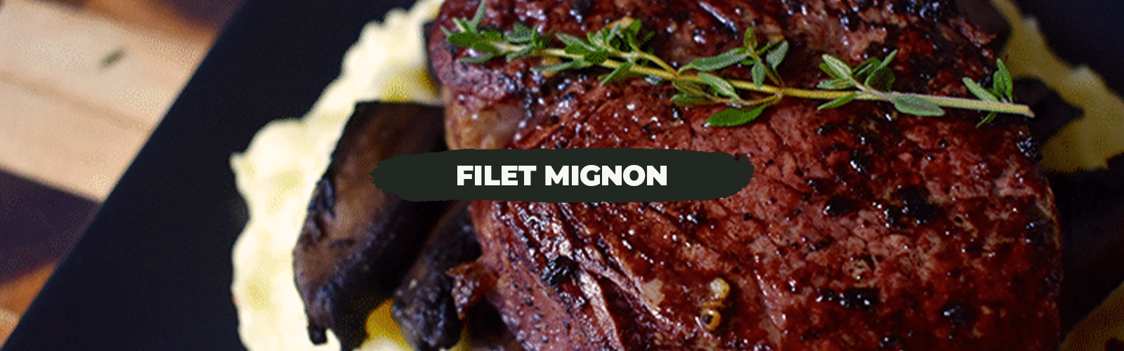 Filet Mignon With Mushroom and Red Wine Dijon Sauce