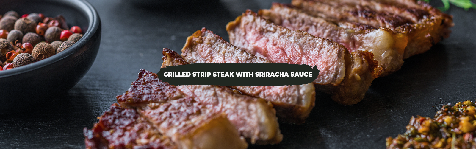 Grilled Strip Steak With Sriracha Sauce