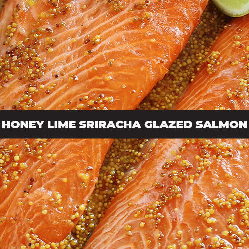Honey Lime Sriracha Glazed Salmon