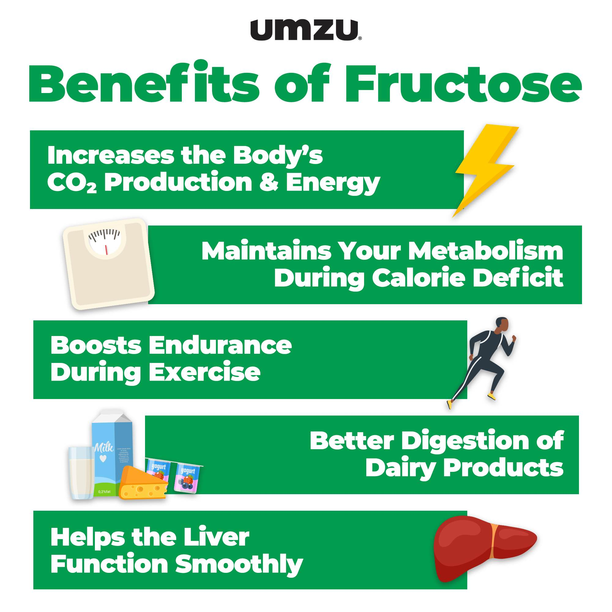 benefits of fructose