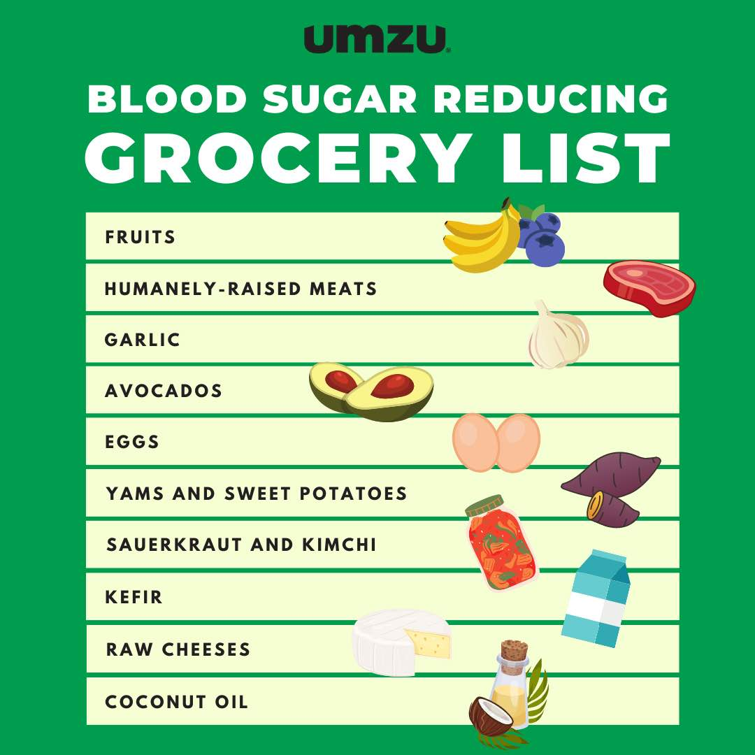 grocery list for high blood sugar