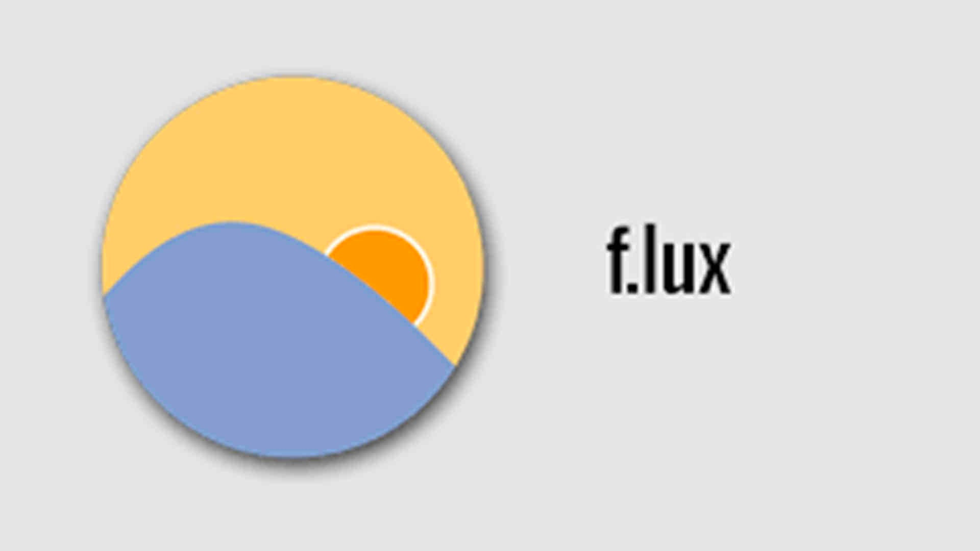 f.lux for sleep and blue light