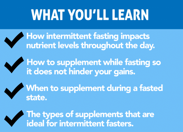 can i take multivitamins while intermittent fasting