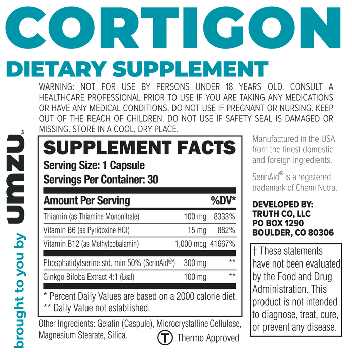 Cortigon Ingredients