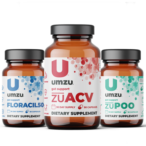 Gut Health Bundle: Floracil50, zuACV and zuPOO