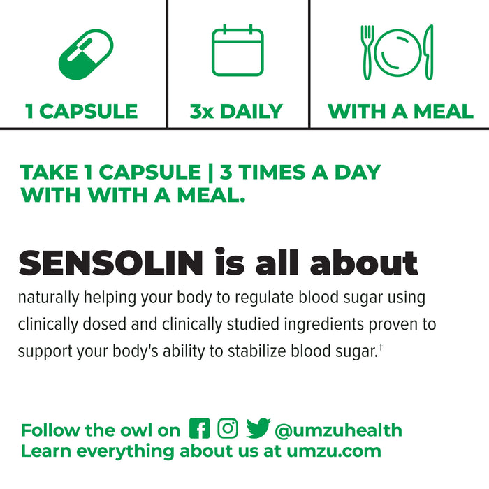 SENSOLIN - Natural Blood Sugar Support Supplement