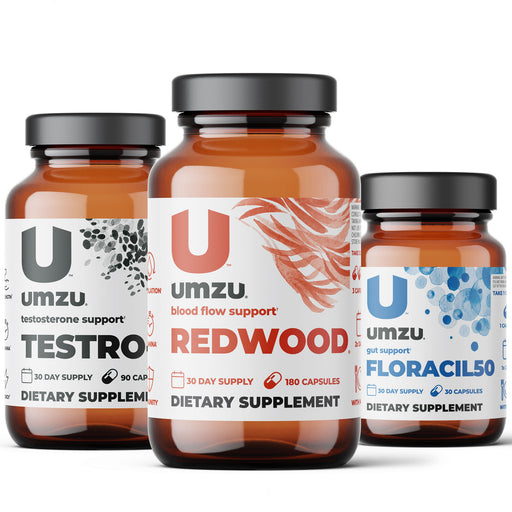 Male Vitality Optimization Bundle: Redwood, Testro-X & Floracil50