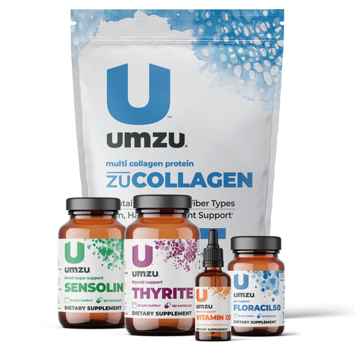 Thyroid Support Bundle: Thyrite, Sensolin, Floracil50, Vitamin D3 and zuCOLLAGEN