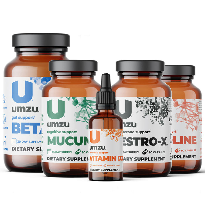 Total Testosterone Bundle: Testro-X, Betaine, Mucuna, Vitamin D3 & Choline