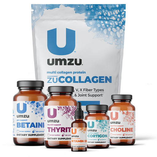 Ultimate Hair Restoration Stack: Betaine, Cortigon, Vitamin D3, Choline, Thyrite & zuCOLLAGEN