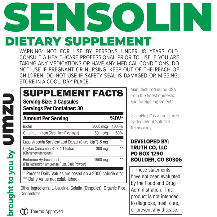 Sensolin Ingredients