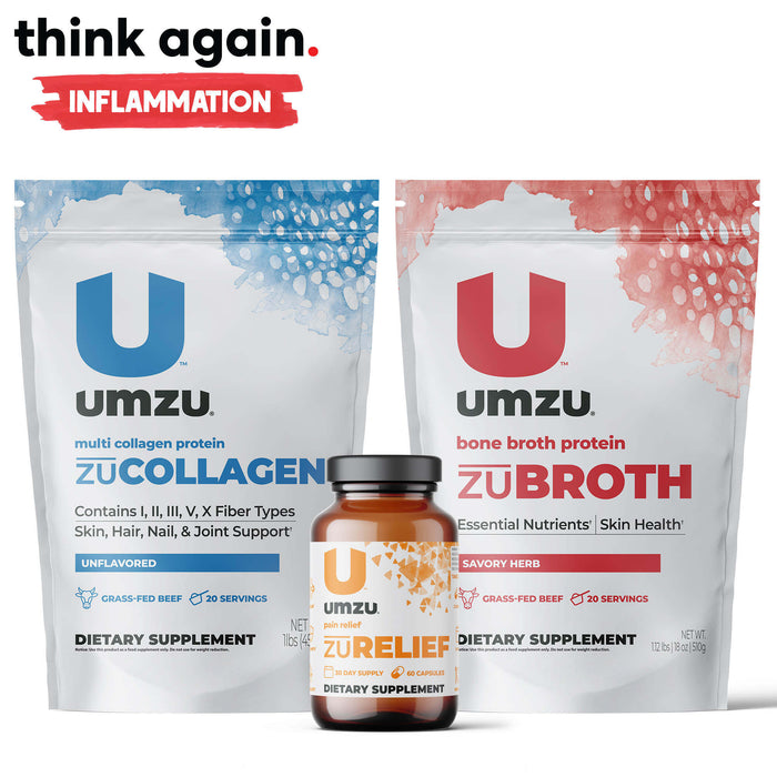 Inflammation Bundle: zuRELIEF, zuBROTH & zuCOLLAGEN