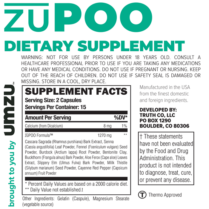 zuPOO Ingredients