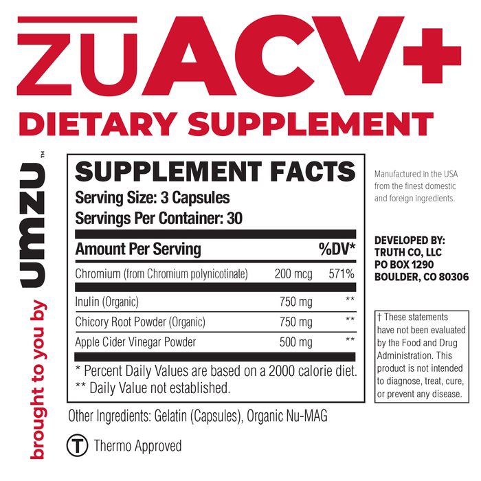 zuACV Ingredients