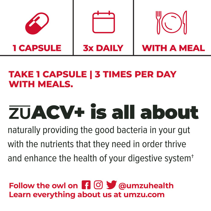 How to Use zuACV + Prebiotics