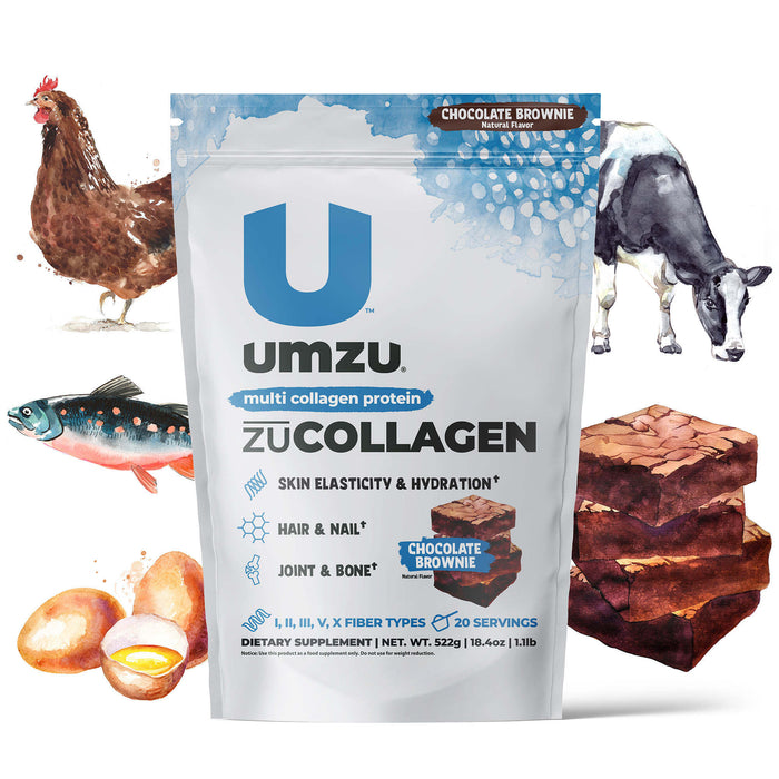 zuCollagen Protein: Multi-Type Collagen (Chocolate Brownie)