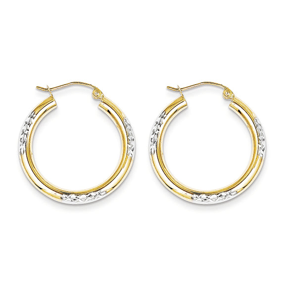 10K Yellow Gold Hoop Earrings from Miles Beamon Jewelry - Miles Beamon Jewelry
