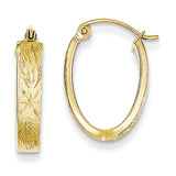 10K Yellow Gold Oval Hoop Earrings from Miles Beamon Jewelry - Miles Beamon Jewelry