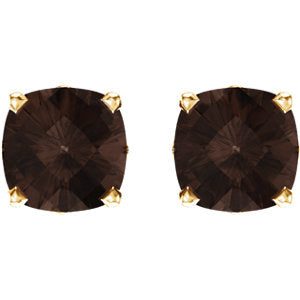 14K Yellow Smoky Quartz Earrings from Miles Beamon Jewelry - Miles Beamon Jewelry