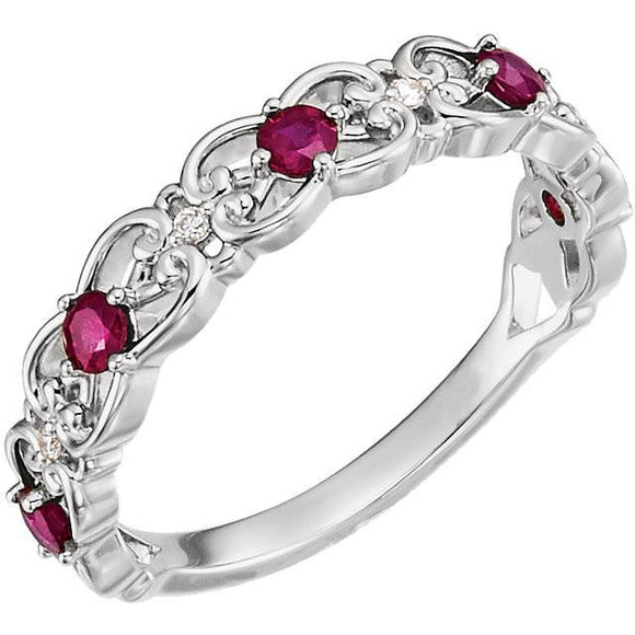 Sterling Silver Ruby Ring from Miles Beamon Jewelry - Miles Beamon Jewelry