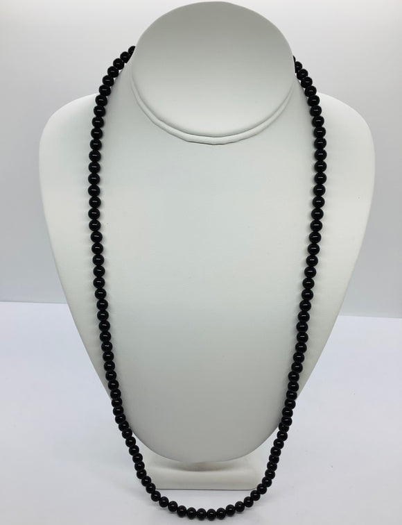 6mm Black Onyx Bead Necklace