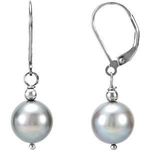 Freshwater Cultured Pearl Lever Back Earrings from Miles Beamon Jewelry - Miles Beamon Jewelry
