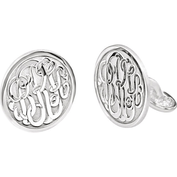 Sterling Silver Momogram Cuff Links from Miles Beamon Jewelry - Miles Beamon Jewelry