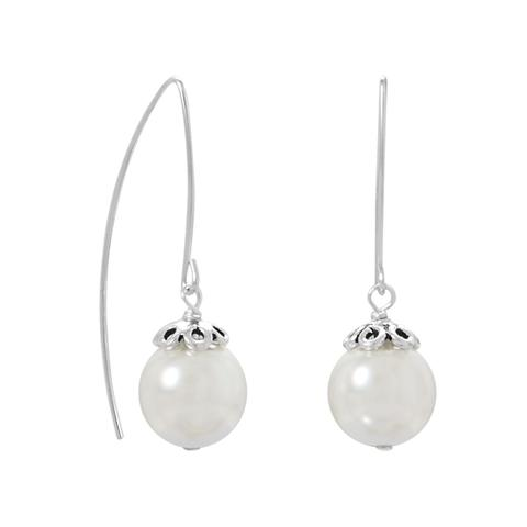 Sterling Silver Glass Pearl Earrings from Miles Beamon Jewelry - Miles Beamon Jewelry