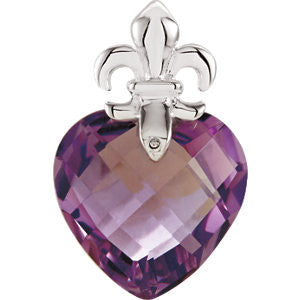 Sterling Silver Amethyst Pendant from Miles Beamon Jewelry - Miles Beamon Jewelry